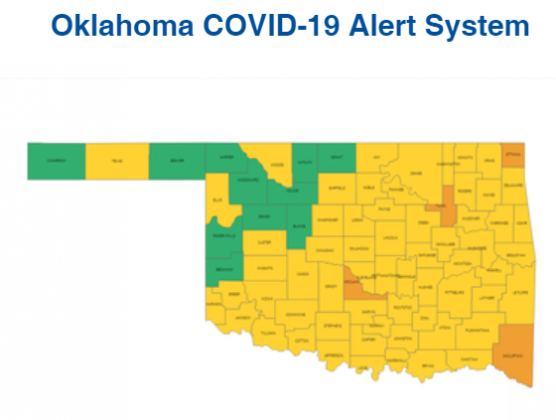 Oklahoma Color-Coded Risk Assessment Map