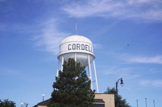 One of Cordell's water towers. Bob Henline | The Cordell Beacon